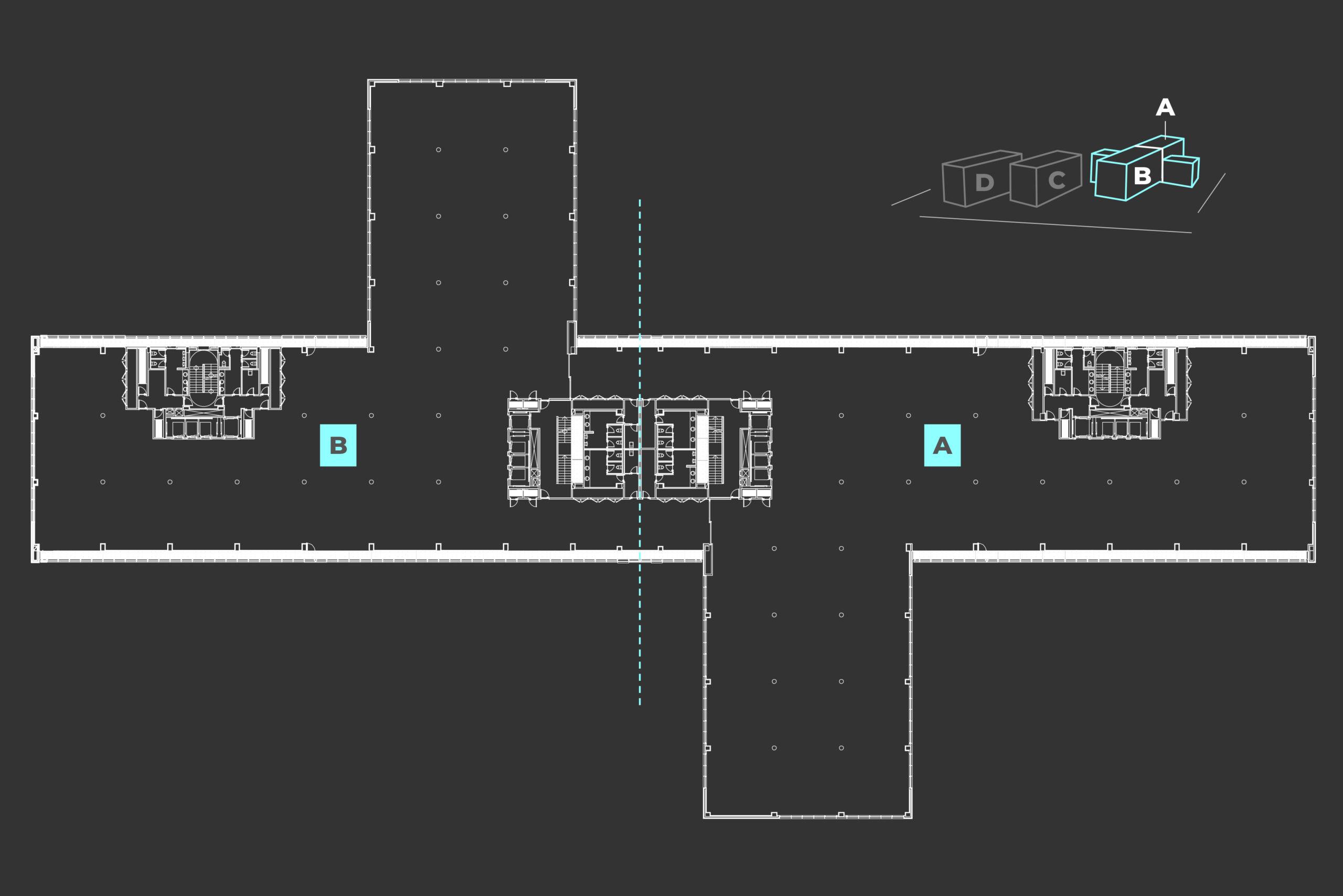 plano de edificios a y b